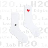 H2O LAB DIGITAL LOVE 數位愛心 刺繡 基本款 中高筒襪 男女 19SS03WH