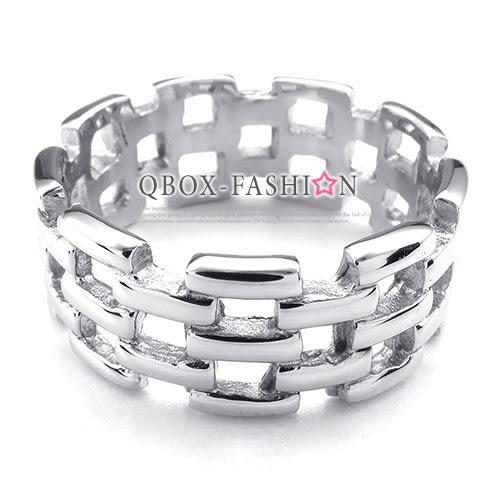 《 QBOX 》FASHION 飾品【R10025179】精緻個性環狀鏤空設計鑄造鈦鋼戒指/戒環