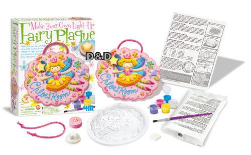 《 4M美勞創作 》Make Your Own Light-Up Fairy Plaque 花精靈夜光掛飾 ╭★ JOYBUS玩具百貨
