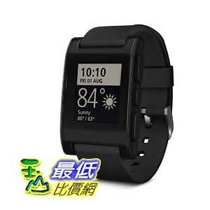 [104美國直購] Pebble 黑色 B00BKEQBI0 智能手錶 Smartwatch for iPhone and Android $4619
