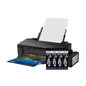 EPSON L1800 A3六色單功能原廠連續供墨印表機 搭四瓶T673黑原廠墨水