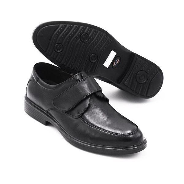 【W&M】正裝休閒素色魔鬼沾皮鞋 男鞋-黑
