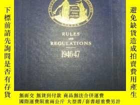 二手書博民逛書店RULES罕見AND REGULATIONS 1946-47 規