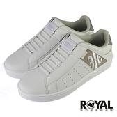 Royal Elastics Icon 白灰咖啡 套腳 皮革 舒適 休閒鞋 女款 NO.J0868【新竹皇家 91912-078】