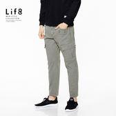 Casual 設計口袋 工作獵裝 彈力休閒長褲-灰色【02429】