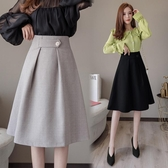 職業風時尚裙子女2020春季高腰顯瘦中長款大擺A字半身裙 KV7194 【野之旅】