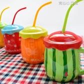 杯子陶瓷個性創意潮流馬克杯帶蓋勺簡約水杯家用大肚兒童牛奶杯 育心小館