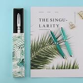 鋼筆 得力克新月3鋼筆金屬桿彩色烤漆特細小美工尖學生練字盒裝禮品筆 夢藝家