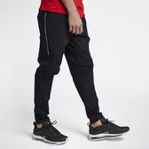 Nike Air Max Woven 男 黑 運動長褲 休閒 編織褲 鬆緊 平滑舒適 拉鍊口袋 長褲 886135010
