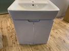 【麗室衛浴】德國GEBERIT PLAN系列 60CM盆 225160 + 不鏽鋼面烤漆浴櫃