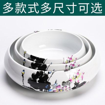 水仙花盆陶瓷家用無孔銅錢草專用一葉蓮碗蓮盆【古怪舍】