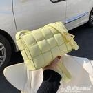 小方包 高級感包包洋氣女包2021流行新款潮時尚編織斜背包百搭網紅小方包 晶彩 99免運