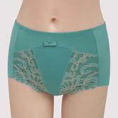 曼黛瑪璉-雙弧絲蛋白  高腰三角修飾褲(海洋藍)(小褲未購滿3件恕無法出貨,退貨需整筆退)