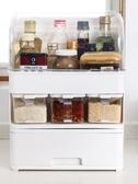 調味罐防油帶蓋調味盒油鹽醬醋瓶調料罐子置物架廚房用品收納盒組合套裝 雲朵走走