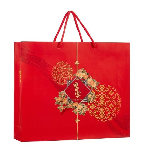 {璽宴}手提袋(50個/組) 中秋/彩盒/蛋黃酥/鳳梨酥