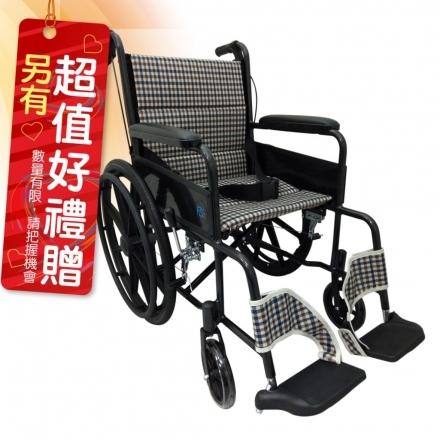 來而康 富士康 機械式輪椅 FZK-2B 雙層不折背 輪椅B款補助 贈 輪椅置物袋