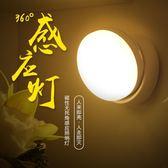 【熊貓】led人體感應燈衣柜樓道充電池墻壁燈小夜燈