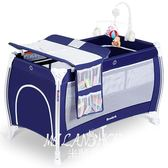 貝魯托斯可折疊嬰兒床多功能便攜式游戲床寶寶美國bb搖籃床帶滾輪