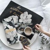黑白素描雙層加厚現代西餐墊布藝隔熱墊餐杯墊餐桌墊墊碗盤墊茶墊 東京衣秀