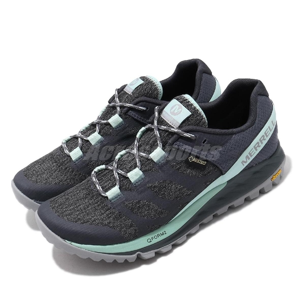Merrell 戶外鞋 Antora GTX 灰 藍 越野 女鞋 防水 【ACS】 ML53090