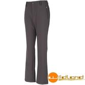 【速捷戶外】Wildland荒野 W2309-96 女Softshell保暖長褲(鐵灰) ,雪褲, 保暖褲