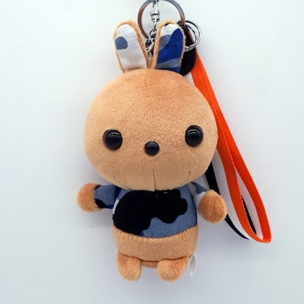 創意小兔毛絨掛件迷彩兔鑰匙扣後背包掛飾汽車鑰匙鍊女生可愛小禮物 提前降價 免運直出