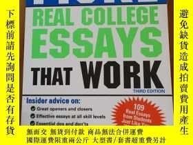 二手書博民逛書店Fiske罕見Real College Essays that