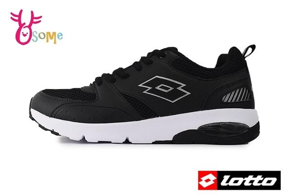 LOTTO樂得運動鞋 男鞋 彈力避震 路跑訓練 網布 慢跑鞋 零碼出清 M8605#黑色◆OSOME奧森鞋業