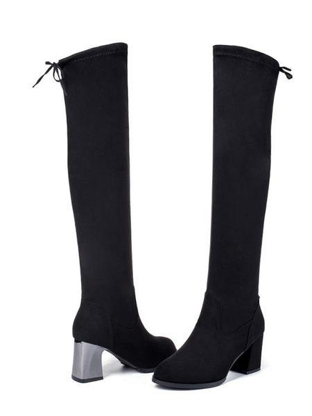 膝上靴過膝長靴女高跟秋冬季新款彈力高筒網紅馬靴瘦瘦棉靴長筒靴子 喵小姐
