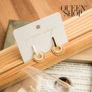 Queen Shop【07030533】一字造型貝殼耳針式耳環*現+預*
