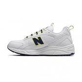 New Balance 男款白螢光黃藍三色經典復刻鞋-NO.ML615DA