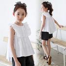 雪紡短袖夏季新品女童短袖體t恤2019韓版女孩中大童全棉雪紡襯衫娃娃上衣 嬡孕哺