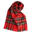 GINZA U新款經典英倫風格紋100%羊毛圍巾(紅色) 359999-14