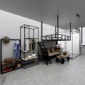 高架床LOFT鐵藝高架床單身公寓鐵床省空間樓閣高架床主題酒店創意高架床LX 運動部落