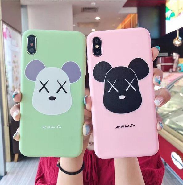 【SZ51】潮牌kaws磨砂暴力熊軟殼 iphone xs max手機殼 xr防摔手機殼 iphone 8 plus手機殼 i6s plus 手機殼
