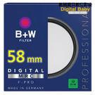 送濕式拭鏡紙 B+W MRC UV 58mm F-Pro (010) 抗UV濾鏡 多層鍍膜保護鏡 (捷新公司貨,保證正品)