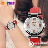 手錶 女士潮流防水指針手錶時尚簡約氣質個性皮帶女學生腕錶
