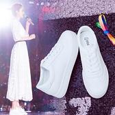 增高鞋 厚底內增高小白鞋女鞋年秋季小碼百搭白鞋休閒板鞋子-Ballet朵朵