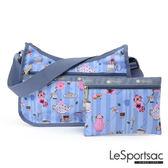 LeSportsac - Standard側背水餃包/流浪包-附化妝包 (午茶時光) 7520P F105