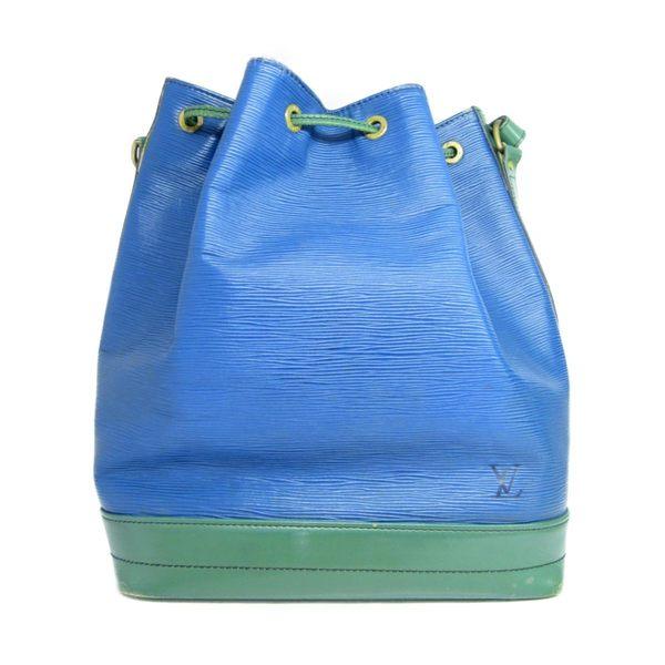 LV LOUIS VUITTON 路易威登 藍綠雙色EPI水波紋肩背水桶包 Noe M44044 【BRAND OFF】