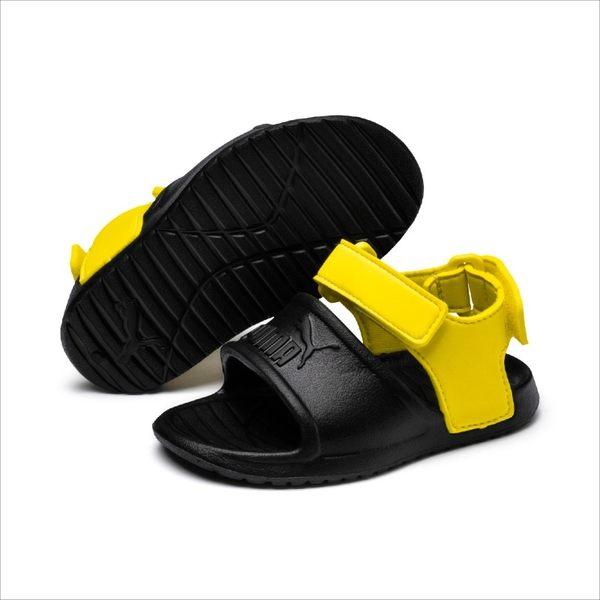 PUMA DIVECAT V2 INJEX INF 童鞋 小童 涼鞋 休閒 魔鬼氈 透氣 黑 黃【運動世界】36954501