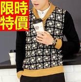針織衫亨利領-新款休閒男保暖羊毛毛衣2色61l70【巴黎精品】