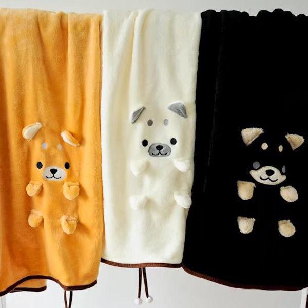 【BlueCat】裝萌小柴犬單身狗可捲曲收納毯/小毛毯/懶人毯