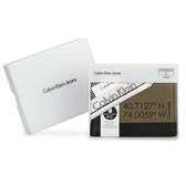 Calvin Klein 經典紐約市政座標單寧多卡短夾(橄欖綠色-含帕巾)103086-1