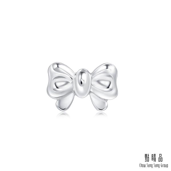 點睛品 Ear Play 鉑金蝴蝶結 單邊耳環(單只)