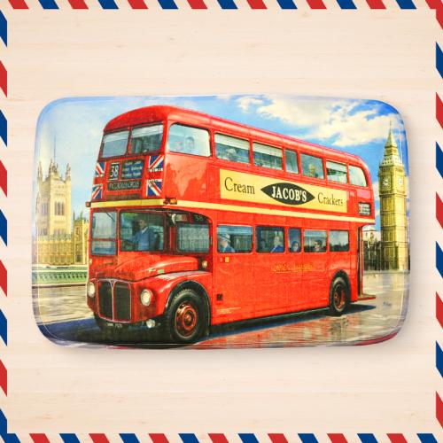 【限宅配】英倫雙層巴士地毯/地墊/踏墊(60x40cm) 1入【BG Shop】