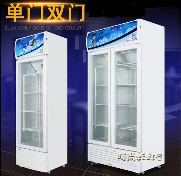 立式商用冷藏櫃單門雙門啤酒櫃保鮮櫃冷藏展示櫃超市陳列飲料冰櫃 220V igo「時尚彩虹屋」