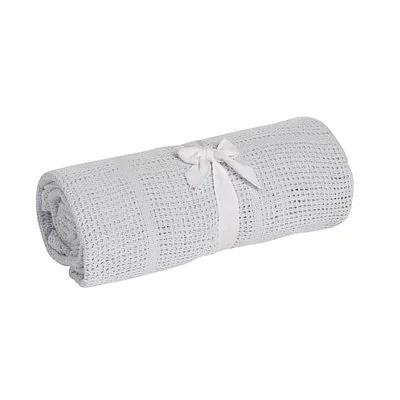 英國 mothercare 中大床棉毯/洞洞毯-灰色