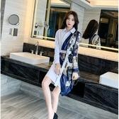 長袖襯衫洋裝 初秋襯衣女裝新款設計感小眾洋氣質輕熟風時尚白色連衣裙 - 歐美韓熱銷