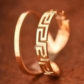 玫瑰金純銀戒指-復古中國風生日情人節禮物女飾品71am81【巴黎精品】
